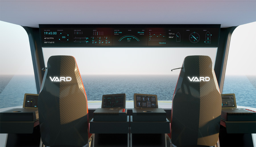 VARD bridge of ship