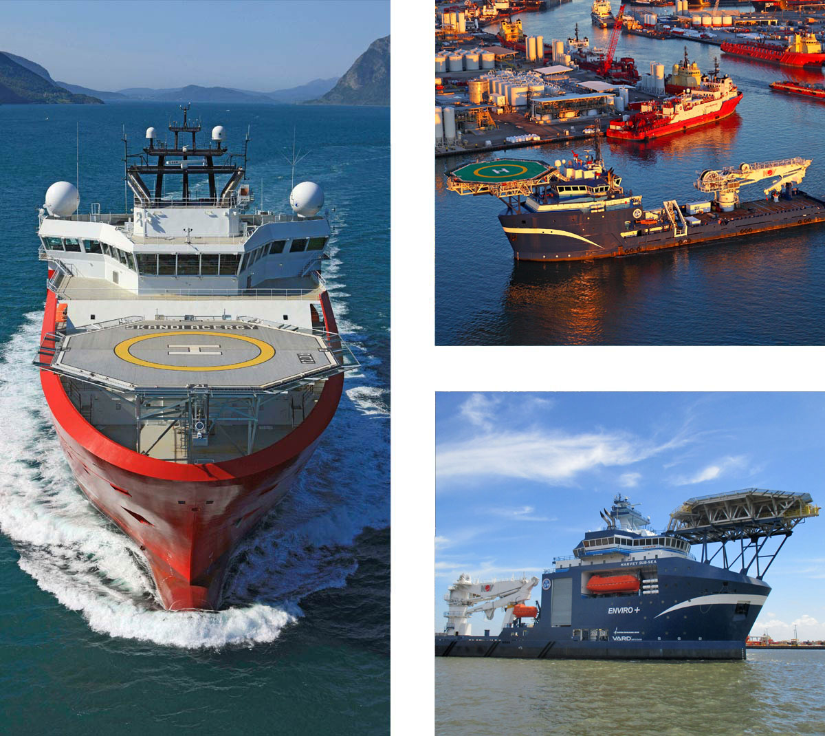 Offshore Construction Vessels OCVs VARD 3 300 Harvey Gulf Deep-Sea, Sub-Sea, Skandi Acergy ROV