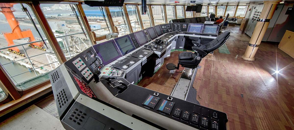 Compact Semi Submersible Vessel Olympia interior showing bridge