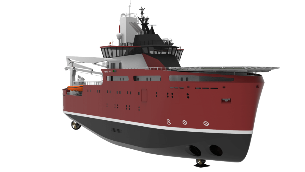 Generic rendering of VARD 4 07 windfarm service operations vessel
