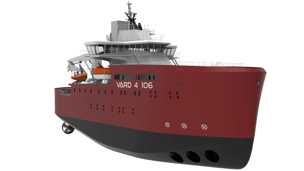 Generic rendering of VARD 4 106 windfarm service operations vessel
