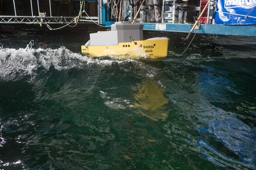 Chilean Antarctic Vessel VARD 9 203 seakeeping tests at MARIN
