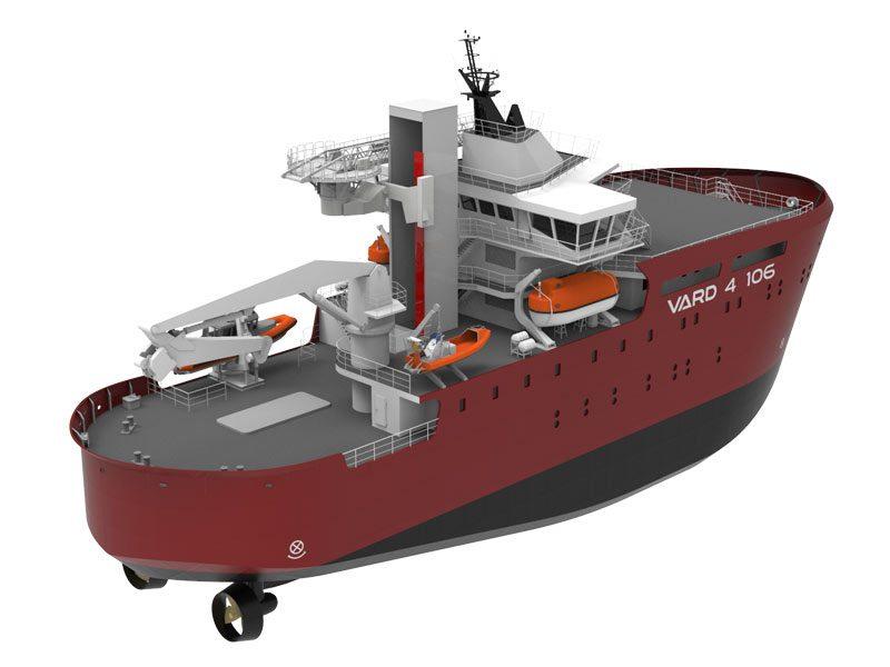 Concept design of VARD 4 106 windfarm service operations vessel