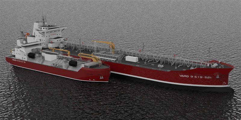 concept designs of VARD 9 510-5k and VARD 9 519-52k LNG bunker vessels