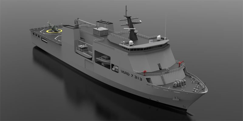 Concept design of Auxiliary Support Vessel for multiPurpose logistics VARD 7 313