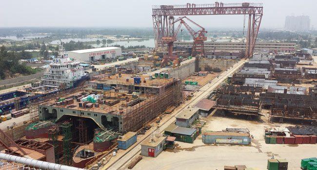 Shipyard for maintenance, repair, refit, dry docking