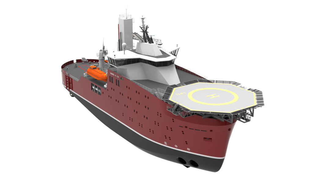 VARD 4 19 service operations vessel in starboard perspective view