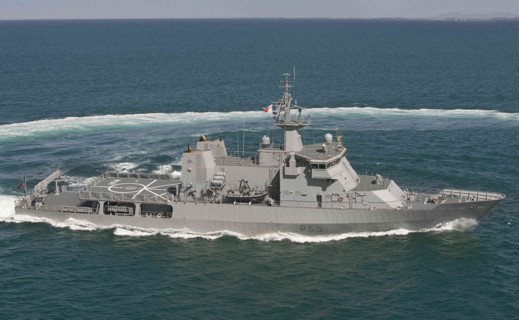 Offshore Patrol Vessel OPV VARD 7 085 HMNZS Wellington RNZN on sea trials