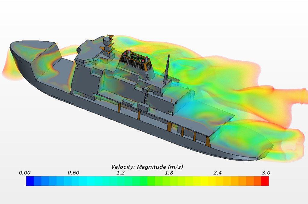 CFD computational fluid dynamics of helideck airflow
