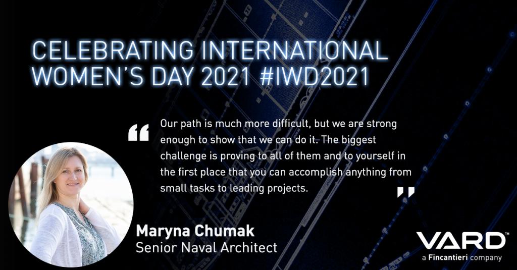 International Women's Day - Maryna Chumak